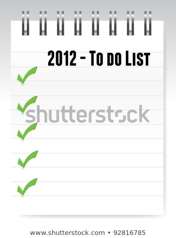 2012 To Do List Photo stock © alexmillos