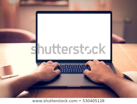 бизнесмен · указывая · экране · сидят · столе · служба - Сток-фото © photography33