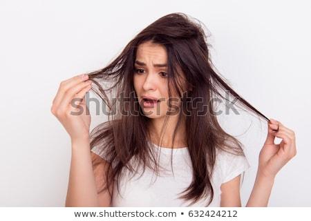 問題 髪 クローズアップ 少女 無料 首 ストックフォト © Rustam