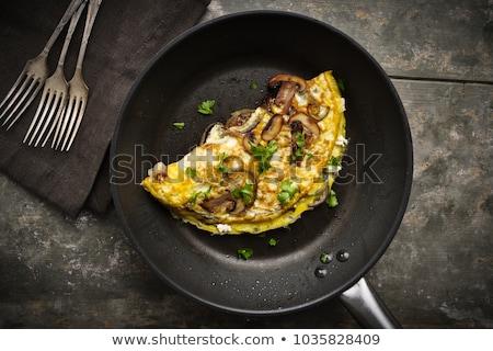Frito setas huevo tomate almuerzo vegetales Foto stock © M-studio