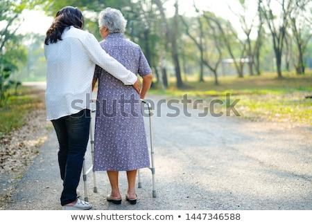 Vrouw helpen oude dame medische home gezondheid Stockfoto © photography33