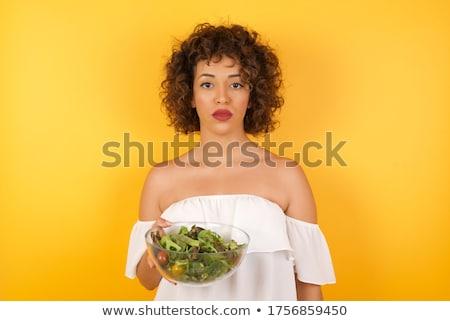 Mulher cara cabelo fundo triste Foto stock © photography33