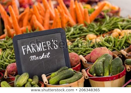 Oranges at the farmer's market stock photo © erbephoto