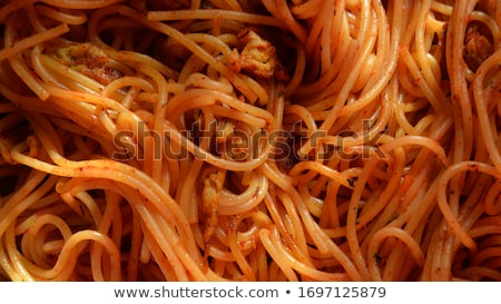 close up on spaghetti stock photo © m-studio