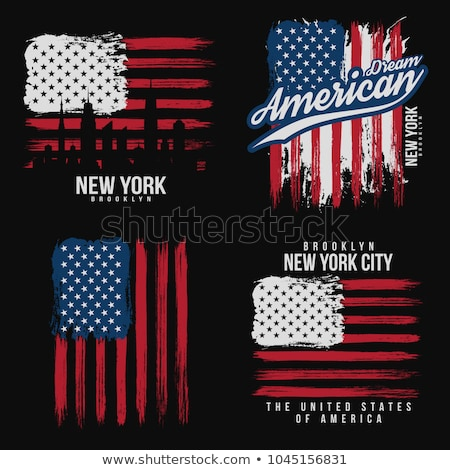 USA · winderig · vlaggen · ingesteld · vervormd · vlag - stockfoto © kaludov