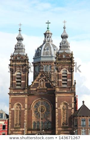 igreja · Amsterdam · Holanda · ver · ponte - foto stock © mariematata