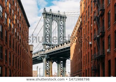 ブロードウェイ 橋 水 道路 市 建設 ストックフォト © jadthree