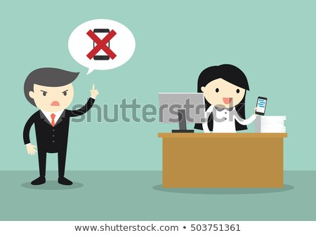 zakenvrouw · roepen · telefoon · senior · vergadering · kantoor - stockfoto © lisafx
