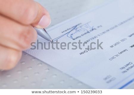 Cashier Checks for Counterfeit Money stock photo © lisafx
