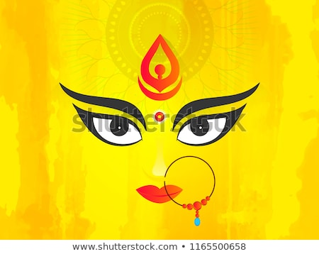 Soyut tanrıça yüz el dizayn taç Stok fotoğraf © pathakdesigner