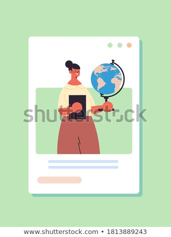 Laborer holding a globe Stock photo © photography33