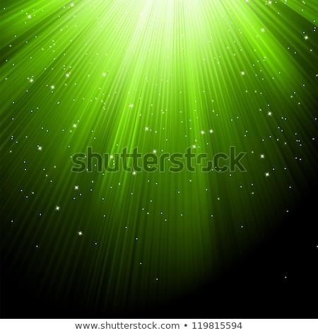 Foto stock: Neve · estrelas · verde · eps · queda