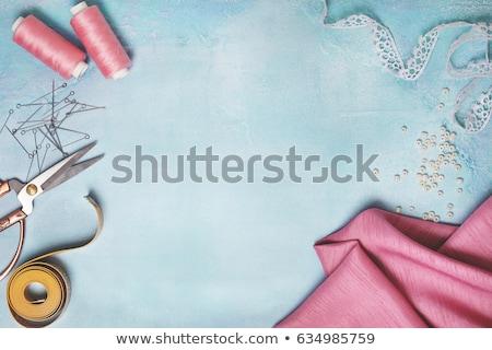 pink thread with needle stock photo © compuinfoto