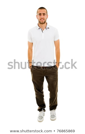 глупый случайный человека молодые портрет изолированный Сток-фото © zittto