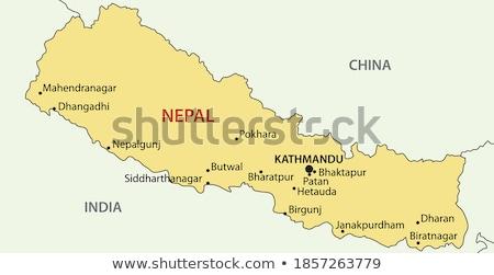 демократический республика Непал Азии карт Сток-фото © Vectorminator