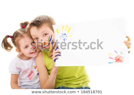 two painters holding a blank board stock photo © photography33