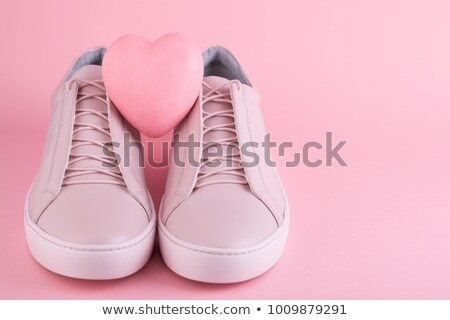 Stock photo: Pair of pink women's shoes
