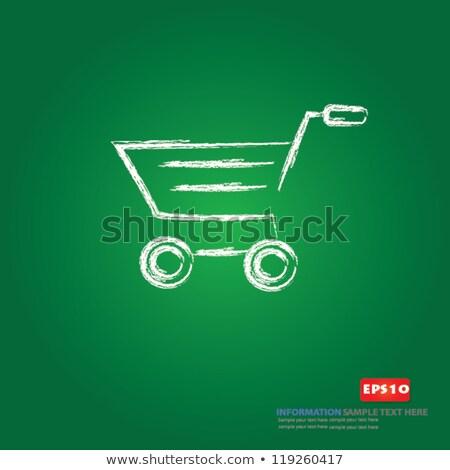 Add to basket on Green chalkboard Stock photo © stevanovicigor