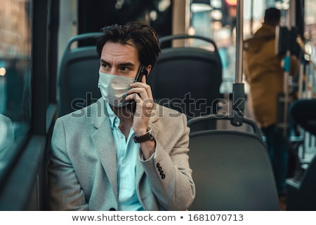young man in public transportation Stock photo © photography33