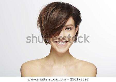 Porträt · attraktive · Mädchen · perfekt · Make-up · weiß · BH - stock foto © pawelsierakowski
