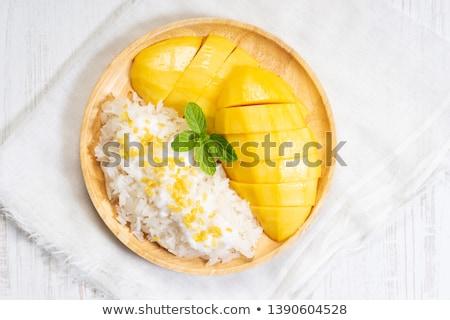 sticky rice mango stock photo © yuliang11