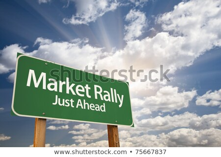 Stock Market crossroads With Bull and Bear Signs Stock photo © Lightsource