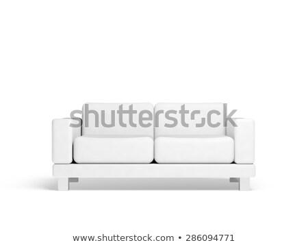 красный · кожа · диване · черный · стены · интерьер - Сток-фото © digitalgenetics