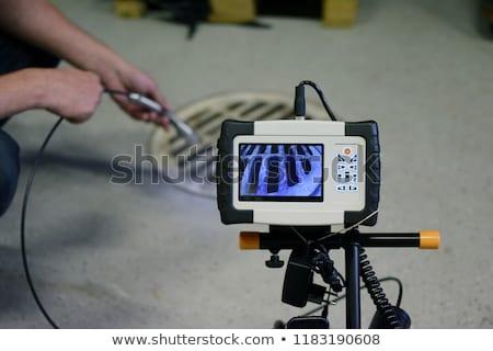 Cámara inspección control tecnología laboratorio circuito Foto stock © cheyennezj