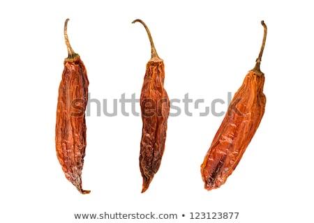 pimentas · três · secas · quente · branco · comida - foto stock © raptorcaptor