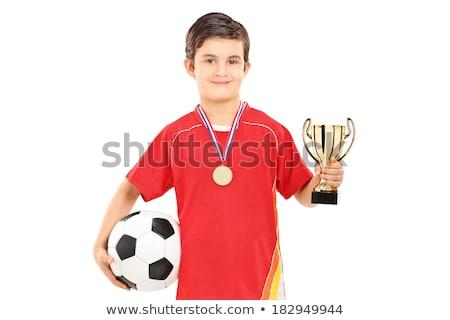 ouro · futebol · bronze · prêmio · 3D · objeto - foto stock © goce