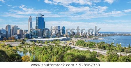 perth skyline Stock photo © compuinfoto