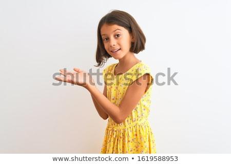 Genç kız el bo boş kadın Stok fotoğraf © ra2studio
