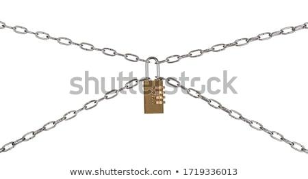 Combinación candado aislado blanco tecnología metal Foto stock © kitch