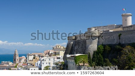 Panoramic view on village and old castle in Italy. Stock photo © rglinsky77