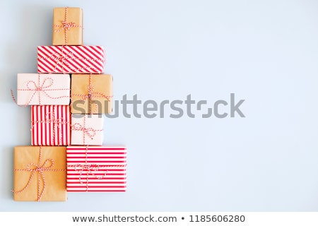 árvore · de · natal · branco · quarto · casa · natal · presentes - foto stock © hasloo