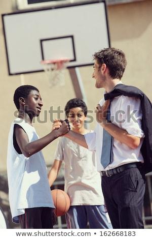 meninos · aperto · de · mãos · dois · jovem · raso · mãos - foto stock © stokkete