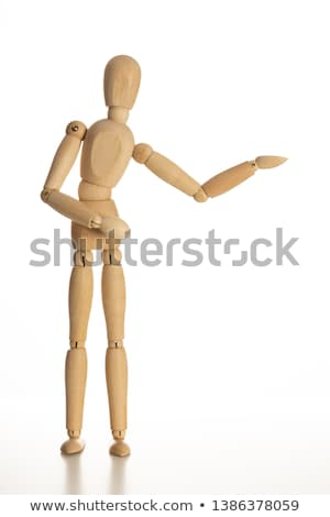 A wood puppet coming out Stock photo © richardjary