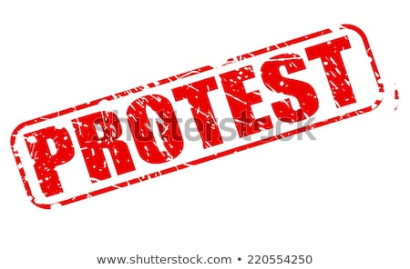 Grunge tiltakozás bélyeg vektor technológia kulcs Stock fotó © burakowski