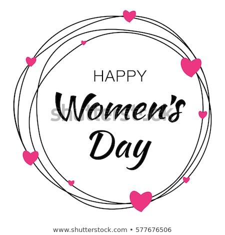 Kartkę z życzeniami tekst szczęśliwy dzień kobiet karty wektora Zdjęcia stock © bharat