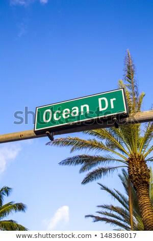 jelzőtábla · óceán · vezetés · Miami · tengerpart · Florida - stock fotó © meinzahn
