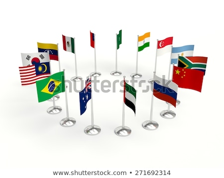 South Africa Small Flag on a Map Background. Stock photo © tashatuvango