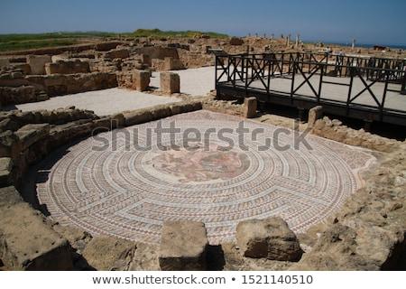 Romok ősi város Ciprus kék utazás Stock fotó © mahout