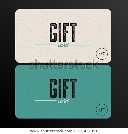 Retro cartão de presente modelo vetor textura luz Foto stock © orson