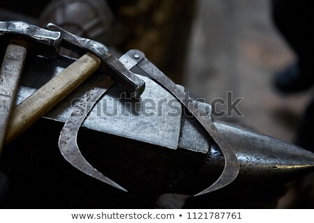 vintage blacksmith hammer Stock photo © RedDaxLuma