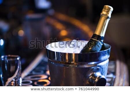 Champanhe balde festa vinho beber garrafa Foto stock © shivanetua