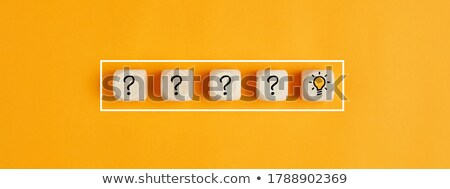 person sign with question marks in flat blocks stock photo © marinini
