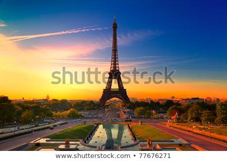 Eiffeltoren oranje glanzend stijl reizen architectuur Stockfoto © tilo