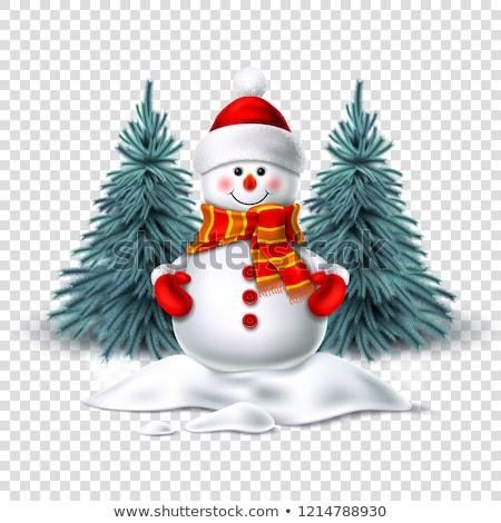 Boneco de neve luvas seis amigável fácil Foto stock © brittenham