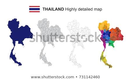 Stok fotoğraf: Tayland · harita · dünya · sanat · seyahat · beyaz