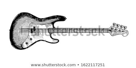 basse · guitare · cou · générique · isolé · blanche - photo stock © nelsonart